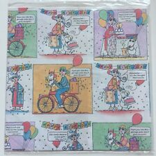 New Hallmark Classic Maxine Birthday Gift Wrapping Paper (2 Sheets)
