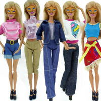 5 Set Various Doll Handmade Clothes Dress Outfit For 11 NEW Girl Doll K9F4