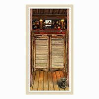 Cowboy Cowgirl Horse Party WESTERN SALOON BAR DOOR COVER PLASTIC BANNER