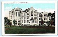 *Champlain Valley Hospital Plattsburgh New York NY Vintage Postcard B50