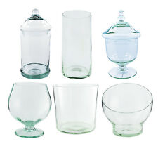 Home Decoration Handmade 6 Different Styles Glass Jars for Candy or Cookies