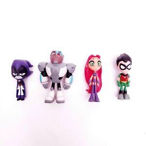 DC Comics Teen Titans Go! Mini Action Figures Lot of 4