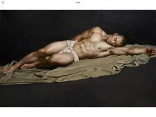 CHENPAT679 hand painted strong man portrait sleeping oil painting art canvas