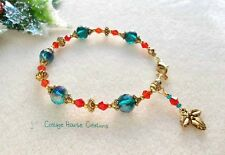 Holiday Holly~ DIY Jewelry Making Bead Kit with Photo Step by Step Instructions