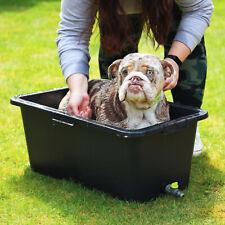 More details for new dog cat pet bathtub with drain valve multi purpose bath tub s m l xl