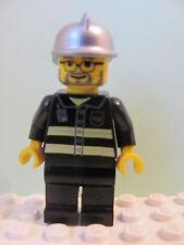 LEGO Minifig cty088 @@ Fire - Reflective Stripes, Helmet, Glasses & Beard 7945