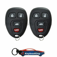 2 Replacement for Chevy Impala - 2006 2007 2008 2009 2010 2011 2012 2013 Remote