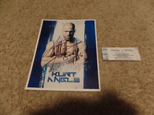 KURT ANGLE tna PHOTO wrestling AUTOGRAPH SIGNED W/TICKET FROM EVENT