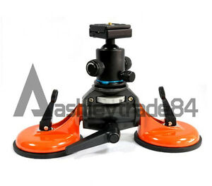 New Two Cups Car Suction Cup Stabilizer With Ball Head For Video DSLR Camera