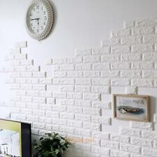 3D Vinyl Room Decor Art Brick Tile Embossed Wall Sticker Bedroom Removable Mural