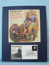 Country Western Great - Johnny Cash & First day Cover of his own stamp