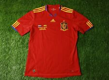 SPAIN TEAM 2009/2010 FOOTBALL SHIRT JERSEY HOME SPECIAL ADIDAS ORIGINAL SIGNED