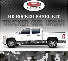 "Trucker Girl Urban Camo Rocker Panel Graphic Decal Wrap Truck SUV - 12"" x 24FT"