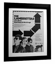 LAMBRETTAS+Beat Boys Jet+POSTER+AD+RARE ORIGINAL 1980+FRAMED+EXPRESS GLOBAL SHIP