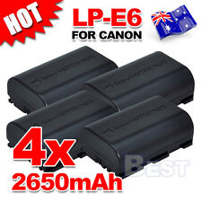 4x LP-E6 Battery for Canon EOS 5D Mark III II 6D 60D 7D Mark II 70D LPE6 2650mah