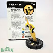 Heroclix Justice League Unlimited set Black Vulcan #072 Chase figure w/card!