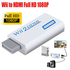 Portable Wii to HDMI Wii2HDMI Full HD TV Converter White Audio Output Adapter US
