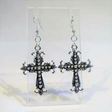 - Free Uk P&P Cg4783.Silver Plated Crucifix Earrings
