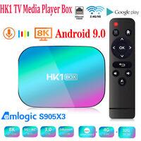 HK1 Box Android 9.0 4+128GB TV Box Quad Core WiFi 8K Home Top TV Media Player