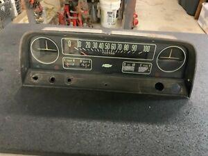 1965 Chevrolet Truck Gauge Cluster with Speedometer Battery & Temp Gauges