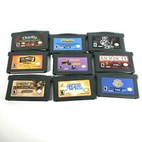Lot of 9 Gameboy Advance Games GBA Tony Hawk Bionicle D&D Monkey Ball B5