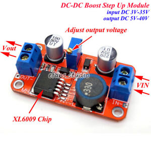 DC-DC Step Up Power Supply Module Boost Adjustable Converter 3V 5V 9V 12V 24V