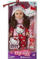 "My Life As HELLO KITTY 18"" Poseable Doll BRUNETTE NEW"