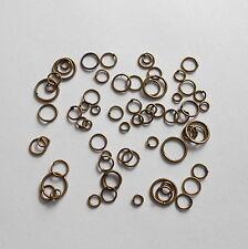 (16€/100g) Biegeringe Binderinge Mix 20g über 240 Stk. Bronze 4mm 6mm 8mm 10mm