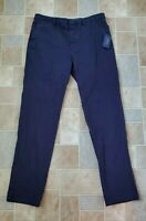 NEW NWT Polo Ralph Lauren Navy Blue Chino Pants Stretch Slim Straight Size 36x33