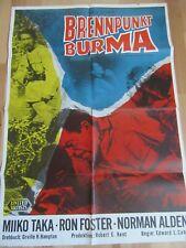 """Filmposter Plakat """"Brennpunkt Burma"""" 1961 Operation Bottleneck - Foster"""