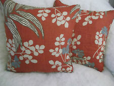 """VERBENA BY ROMO 1 PAIR OF 18"""" CUSHION COVERS - DOUBLE SIDED & PIPED"""