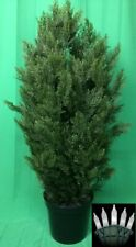 Artificial Uv Rated Outdoor 50� Cypress Cedar Topiary Tree & Lights