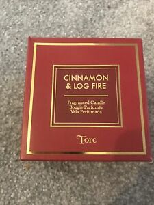 Torc Cinnamon And Log Fire Candle 275g Brand New