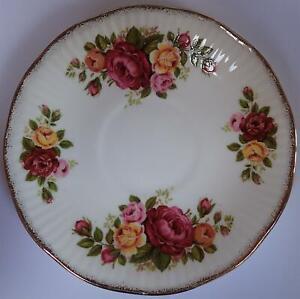 VINTAGE Elizabethan replacement tea saucer Cottage Rose, fine bone china