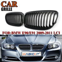Carbon Fiber Look Front Kidney Grille Grill For BMW 3-serise E90 Sedan 2009-2011