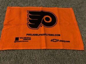 1990s Philadelphia Flyers Chevy Black and Orange Arena Hockey Towel