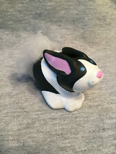 FISHER PRICE LITTLE PEOPLE TOUCH & FEEL BLACK/WHITE BUNNY