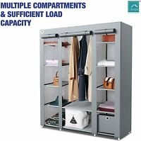 Knight Canvas Large Wardrobe Cubic Drawer(1pc Included) - L 150cmxW 45cmxH 175cm