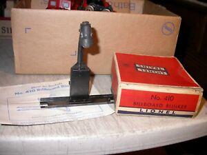 Postwar Lionel 0 410 Billboard Blinker with Original Box & Instructions WORKS