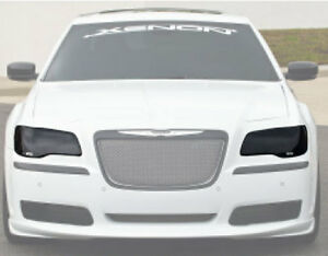 Fits 11-14 Chrysler 300 300C 300S GTS Smoke Acrylic Headlight Covers NEW GT0118S