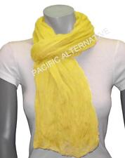 Foulard Jaune grand gros 110x170 femme mixte chale echarpe NEUF scarf yellow