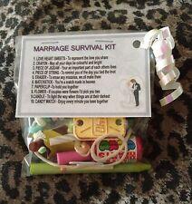 MATRIMONIO KIT di sopravvivenza-Novità Insolito Regalo di nozze o regalo di compleanno