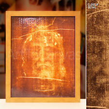 16x20 SHROUD OF TURIN PLUS GOLD FRAME -BURIAL CLOTH JESUS -LIGHTBOX with CANVAS