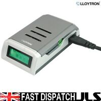 FAST LCD ALKALINE BATTERY CHARGER for AA or AAA