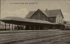 White River Junction VT Union Station c1910 Postcard