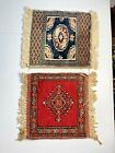 2 Antique KURDISH TRIBAL RUG MATS