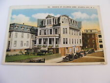 KNIGHTS of COLUMBUS HOME ATLANTIC CITY New Jersey  USA Vintage Postcard