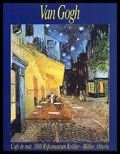 Vincent van Gogh Nachtcafe Poster Bild Kunstdruck im Alu Rahmen schwarz 50x40cm