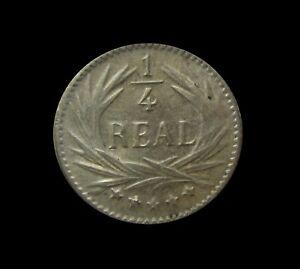 GUATEMALA 1/4 REAL 1897 KM 161 #5741#