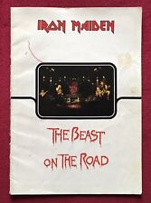 IRON MAIDEN rare 1982 Signed / Autographed BEAST ON THE ROAD tour programme